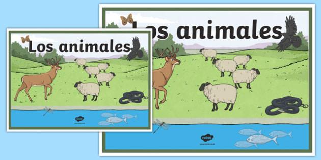 Cartel Los animales