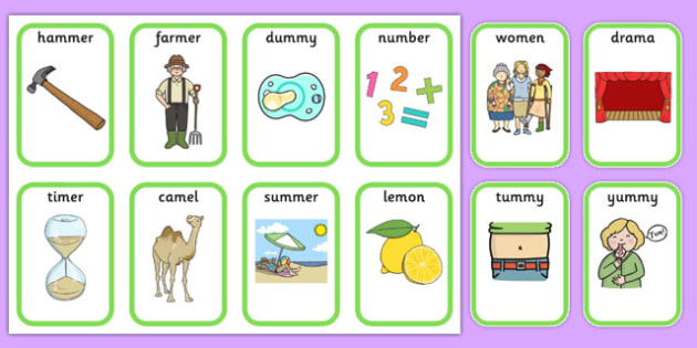 Medial m Playing Cards - speech sounds, phonology, articulation, speech therapy, dyspraxia