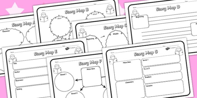 Story Map Activity Sheets Pack - story map, stories, worksheets, map