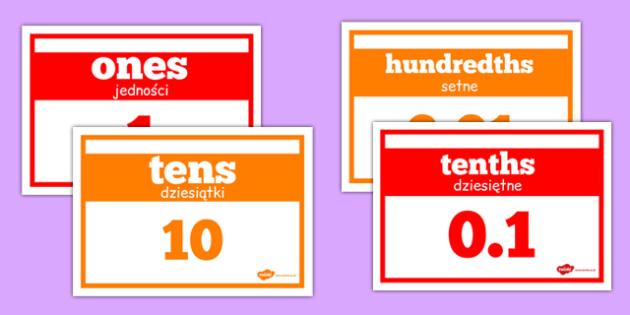 Place Value Strip Polish Translation - polish, place value, strip, numbers, maths, numeracy