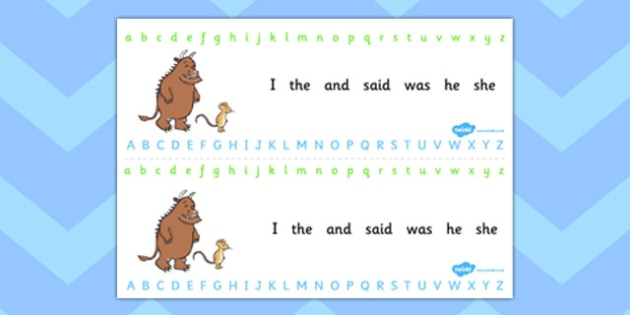 The Gruffalo Alphabet and Number Strips Alphabet Strips - the gruffalo, alphabet, number, alphabet strips, number strips, a-z, a-z strips, number line