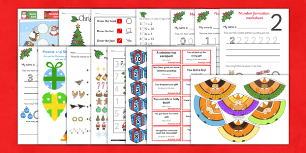 EYFS Christmas Maths Activity Pack - eyfs, christmas, activity