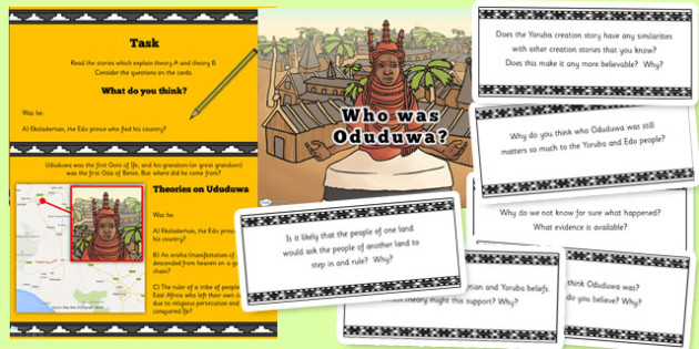Who was Oduduwa Ancient Benin PowerPoint and Activity - history