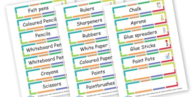 Resource Labels - Resource Labels Primary Resources, resource, label, drawer labels