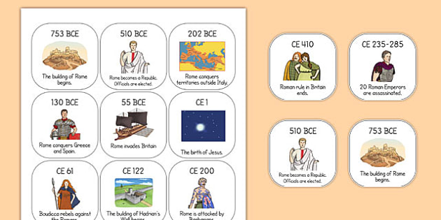 The Romans Timeline Ordering Activity - time line, order, roman