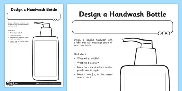 Design a Handwash - hygiene, keeping clean, hand washing, clean, cleanliness, wash