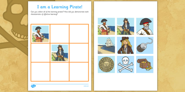 Pirates Learning Chart - pirates, learning chart, learning, chart, learn, fantasy