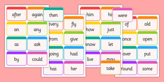 Dolch Word Flashcards First Grade - usa, america, dolch, word, flashcards, first grade