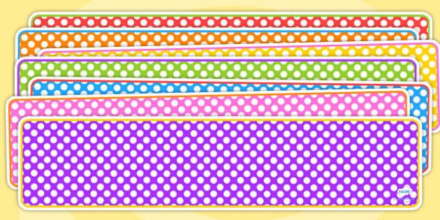 Editable Banner Polka Dots - editable, editable banner, polka dots, display, banner, display banner, display header, themed banner, editable header, header