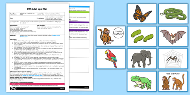Story Activity to Support Teaching on Monkey Puzzle EYFS Adult Input Plan and Resource Pack - monkey puzzle