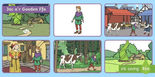 Trefnu'r Stori Jac a'r Goeden Ffa (4 i bob A4) - jac, goeden ffa, traddodiadol, stori, trefnu,Welsh
