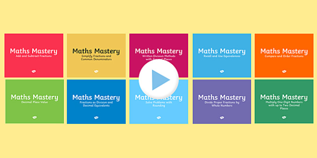 Year 6 Fractions Maths Mastery Activities Resource Pack