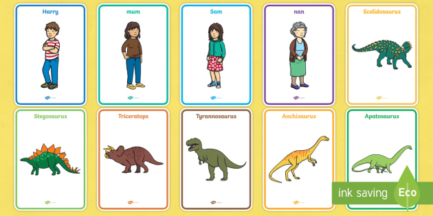 Display Posters to Support Teaching on Harry and the Bucketful of Dinosaurs - dinosaurs