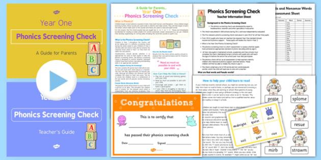 Phonics Screening Check Teacher Resource Pack - phonics screening check, teacher, resource pack