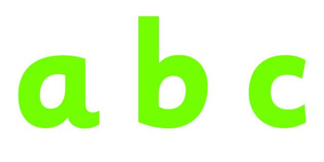 Display Lettering & Symbols - education, home school, free, green
