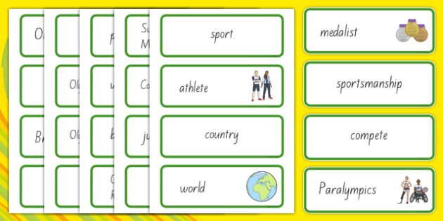 Rio Olympics 2016 Word Cards - nz, new zealand, rio olympics, rio, olympics, 2016, display banner, display, banner
