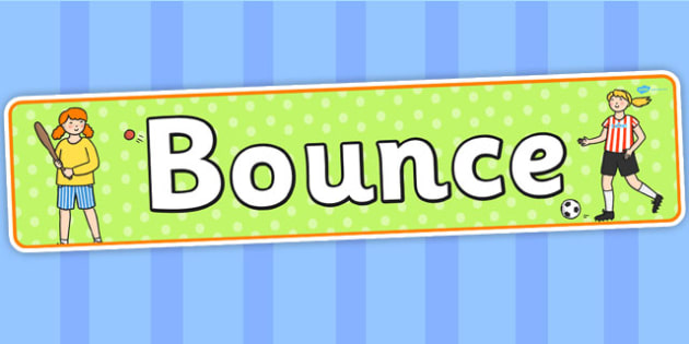 Bounce Themed Banner - bouncing, header, display