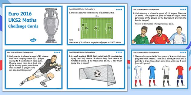 Euro 2016 UKS2 Maths Challenge Cards