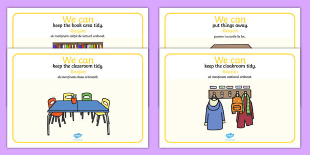 We Can Classroom Rule Display Posters Romanian Translation-Romanian-translation