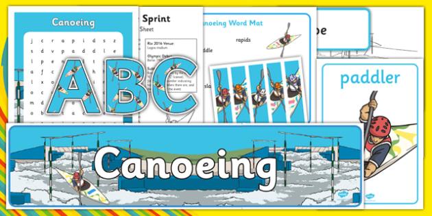 Rio 2016 Olympics Canoeing Resource Pack - rio 2016, 2016 olympics, rio olympics, canoeing, resource pack, resource, pack