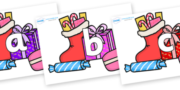 Phoneme Set on Christmas Gifts - Phoneme set, phonemes, phoneme, Letters and Sounds, DfES, display, Phase 1, Phase 2, Phase 3, Phase 5, Foundation, Literacy