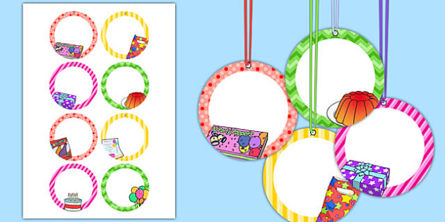 7th Birthday Party Name Tags - 7th birthday party, 7th birthday, birthday party, name tags