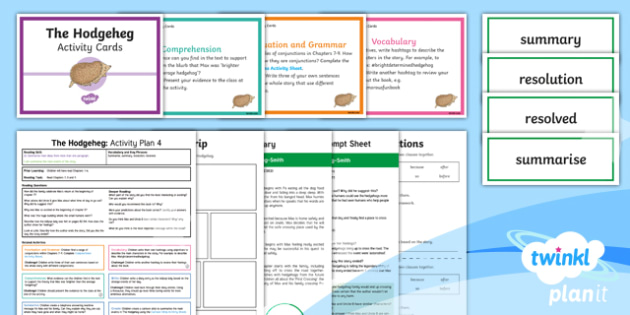 Y3 The Hodgeheg: Activity Plan 4 PlanIt Guided Reading Pack to Support Teaching on the Hodgeheg - The Hodgeheg, carousel, fiction, hedgehog, Dick King Smith, Y3, KS2, whole class reading, guided, re