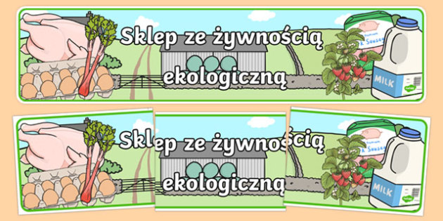 Banner Sklep ze żywnością ekologiczną po polsku