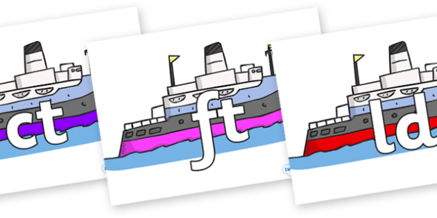 Final Letter Blends on Boats - Final Letters, final letter, letter blend, letter blends, consonant, consonants, digraph, trigraph, literacy, alphabet, letters, foundation stage literacy