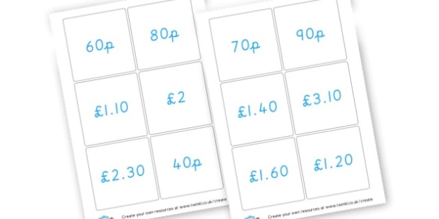 Money Cards - Money & Coins Visual Aids Primary Resources -  Primary Resources