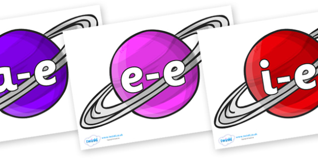 Modifying E Letters on Planets - Modifying E, letters, modify, Phase 5, Phase five, alternative spellings for phonemes, DfES letters and Sounds