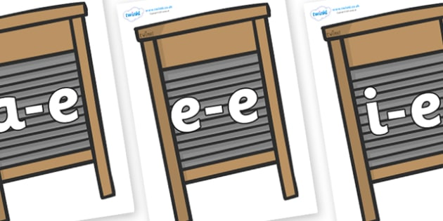 Modifying E Letters on Washing Boards - Modifying E, letters, modify, Phase 5, Phase five, alternative spellings for phonemes, DfES letters and Sounds