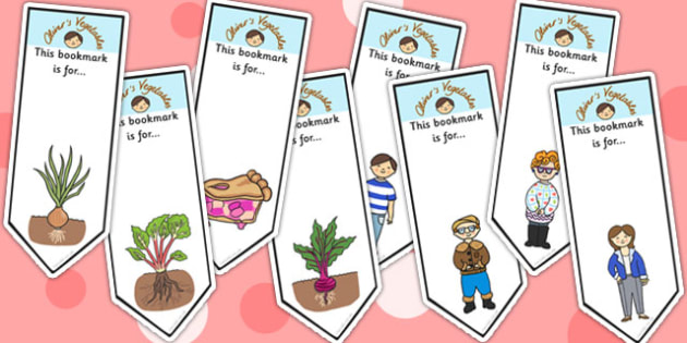 Oliver's Vegetables Editable Bookmarks - stories, bookmarks, award