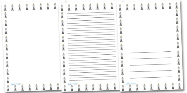Female Doctor Portrait Page Borders- Portrait Page Borders - Page border, border, writing template, writing aid, writing frame, a4 border, template, templates, landscape