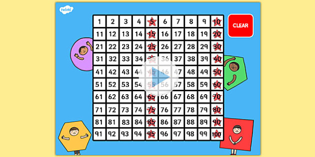 100 Number Square PowerPoint - number square, number, square, numeracy, maths, math, numbers, number square powerpoint, powerpoint presentation, powerpoint game, powerpoint number square, counting on, counting back, times tables, addition, subtractio
