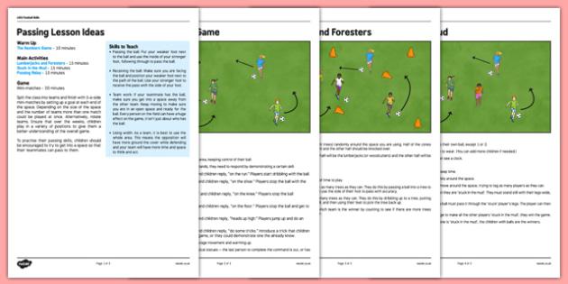 LKS2 Football Skills 2: Passing Lesson Pack - football, PE, sport, exercise, KS2, LKS2, Key Stage 2,  year 3, year 4, skills, physical education, ball skills, team sports