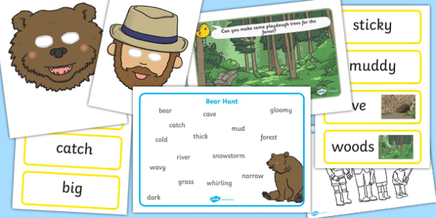 Bear Hunt Story Sack - story sack, story books, story book sack, stories, story telling, childrens story books, traditional tales