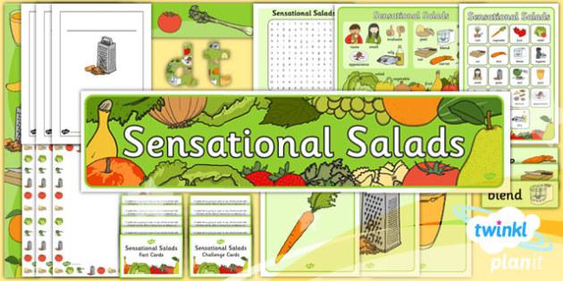 PlanIt D&T KS1 Sensational Salads Unit Additional Resources - dt