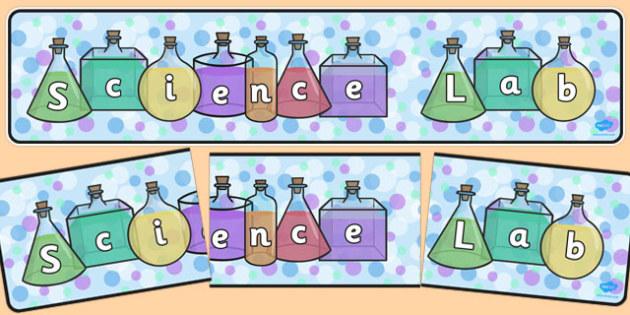 Science Lab Display Banner - science lab, display banner, display