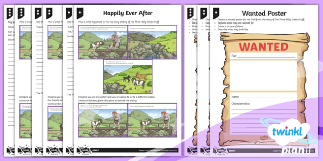 PlanIt Y4 Traditional Tales: The Three Billy Goats Gruff Home Learning Tasks