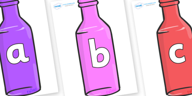 Phoneme Set on Bottles - Phoneme set, phonemes, phoneme, Letters and Sounds, DfES, display, Phase 1, Phase 2, Phase 3, Phase 5, Foundation, Literacy