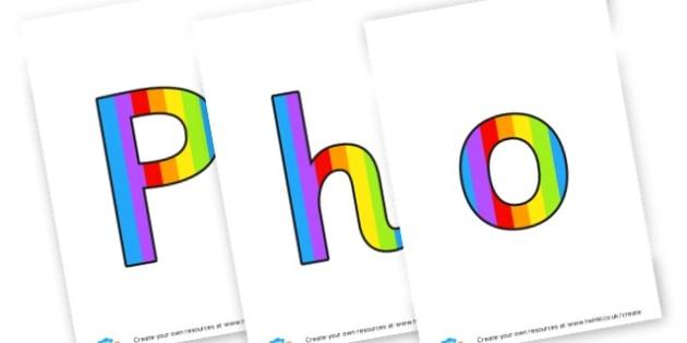 Phonics wording - display lettering - Literacy Phonics Primary Resources -  & English Primary Resources