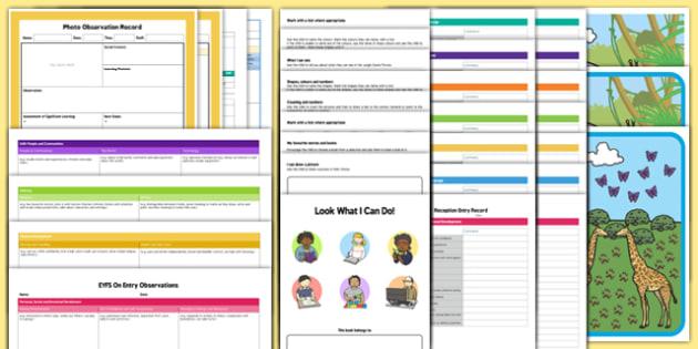 EYFS Bumper On Entry Assessment Pack - baseline assessment, eyfs, on entry, assessment, pack