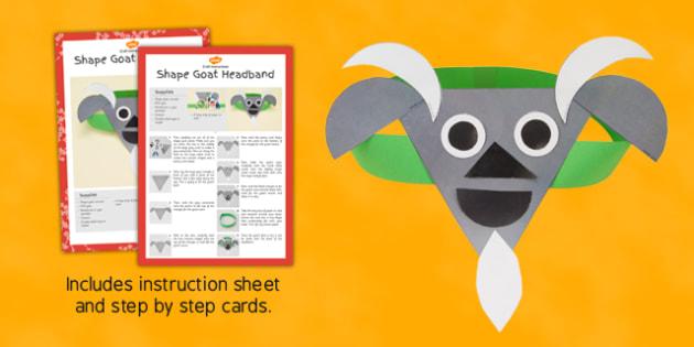 Shape Goat Headbands Craft Instructions - instructions, shape, goat, headbands, craft