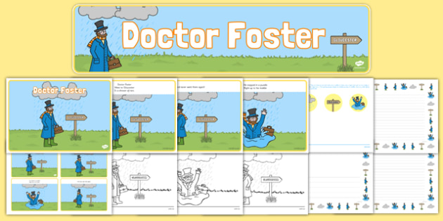 Doctor Foster Resource Pack - doctor foster, resource pack, pack of resources, themed resource pack, doctor foster pack, resources, nursery rhymes