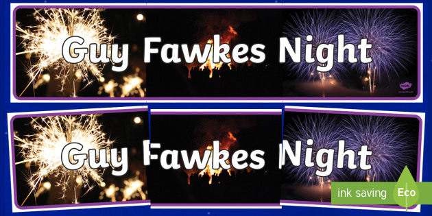 Guy Fawkes Night Photo Display Banner