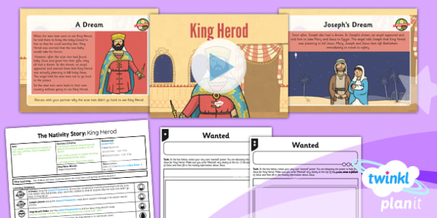 PlanIt - RE Year 3 - The Nativity Story Lesson 6: King Herod Lesson Pack - Jesus, angel, Joseph, dream, order