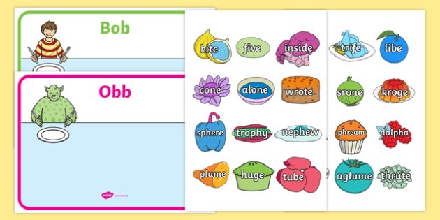 Obb and Bob Phase 5 Sorting Activity