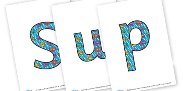 Super tricky - display lettering - Superheroes Display Primary Resources,  Superheroes, Display