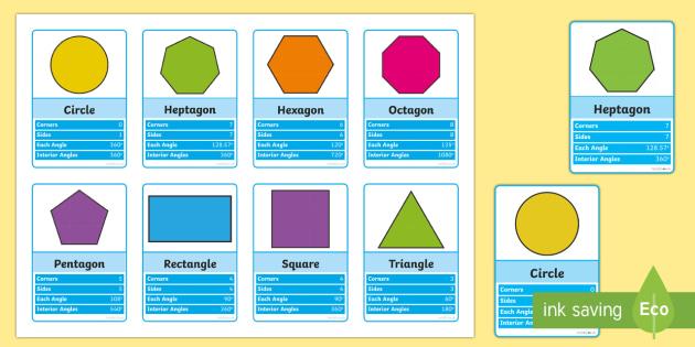 2D Shapes Top Cards Game - 2d shapes, top cards, game, activity, top trumps, shapes, maths, mathematics